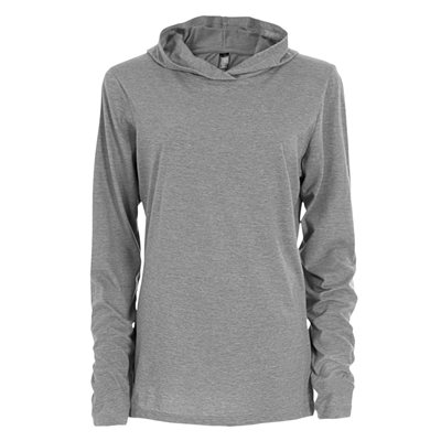 INITIAL-WOMEN'S HOODED LONG SLEEVE T-SHIRT - NEW