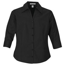COAL HARBOUR® LADIES OPEN-NECK 3 / 4 SLEEVE EASY CARE SHIRT