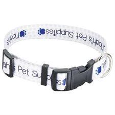 "Full Color 1"" Wide Adjustable Pet Collar"