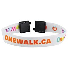"Full Color 1 / 2"" Wristband w /  Clip"