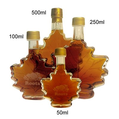 MAPLE SYRUP IN LEAF BOTTLE-250 ml