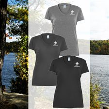 V-NECK BLEND T-SHIRT - LADIES